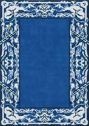 carpet in blue