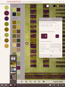 the ANNA VEDA online rug configurator
